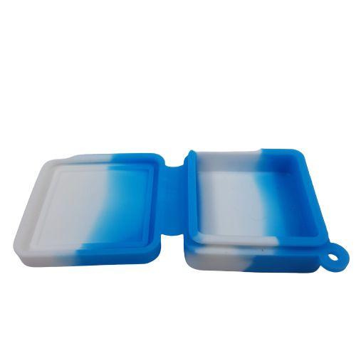 Slick Silicone Quadrado Médio - Azul e Branco
