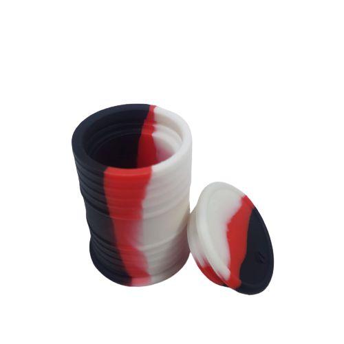 Slick Silicone Tambor Médio - Preto/Branco/Vermelho