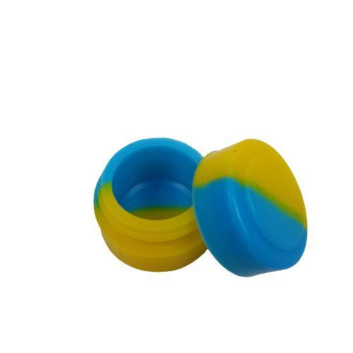Slick Silicone Pequeno - Azul e Amarelo