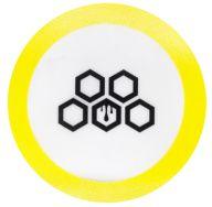 Oil Pad Cultura Dab de Silicone Médio - Amarelo