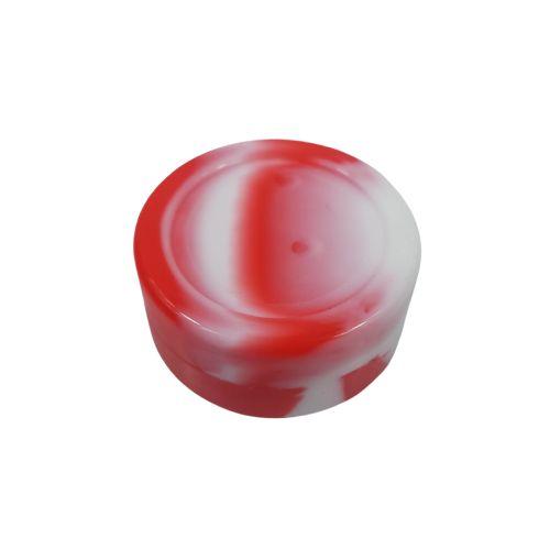 Slick Silicone Grande - Branco/Vermelho