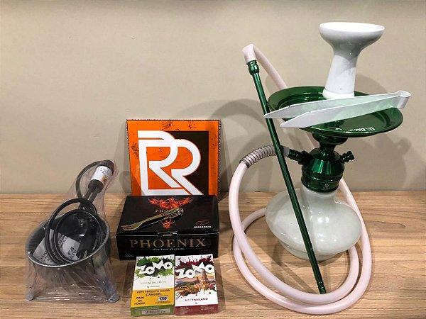 Kit Narguile Completo TRITON  - Verde/Branco