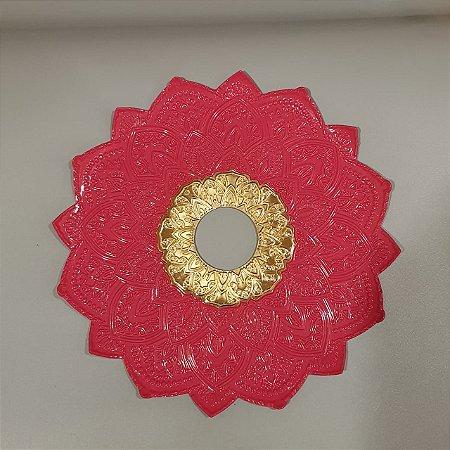 Prato Flowers - Rosa  Com Dourado