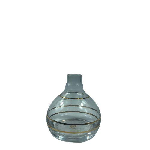 Vaso Bolinha Especial - Transparente e Dourado