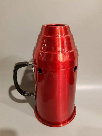 Abafador P/ Narguile Metalico - Vermelho