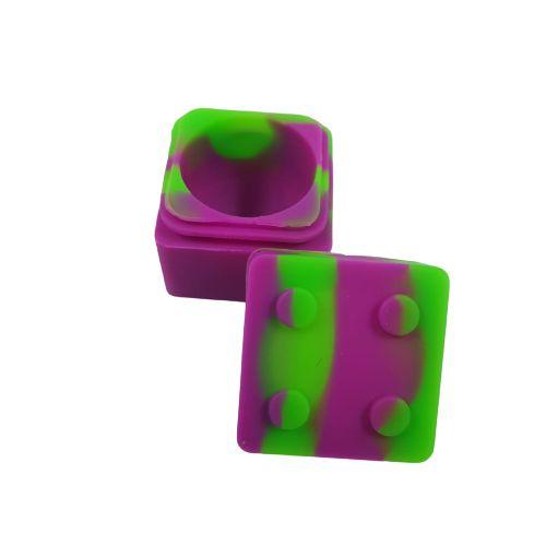 Slick Silicone Quadrado Lego - Verde e Roxo