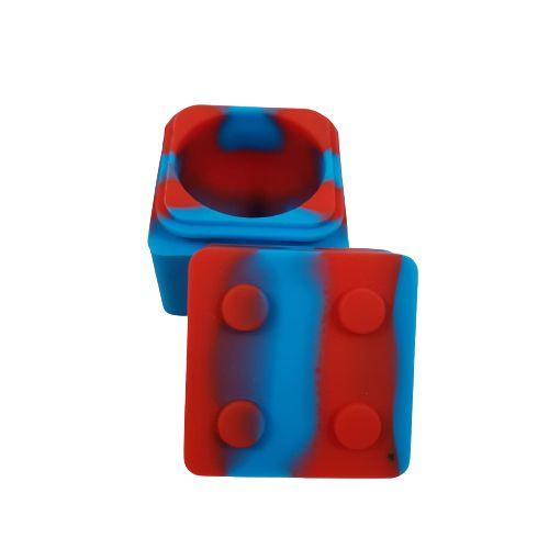 Slick Silicone Quadrado Lego - Azul e Vermelho