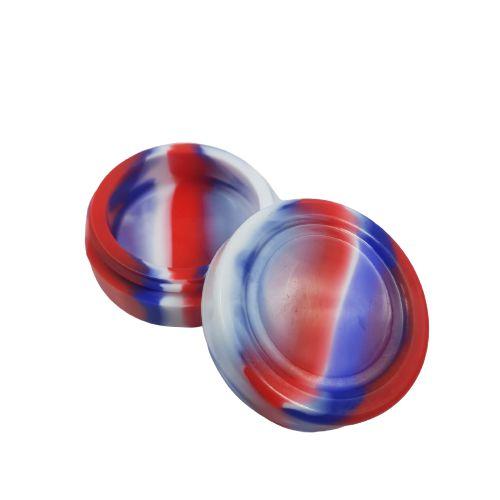 Slick Silicone Grande - Vermelho/Azul e Branco