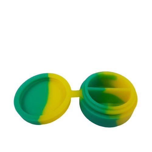 Slick de Silicone Médio com Divisória - Verde e Amarelo