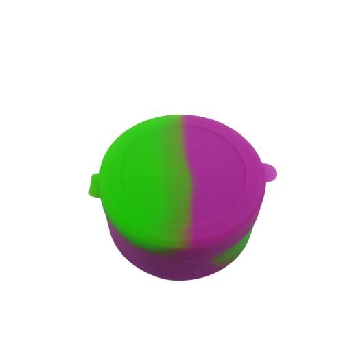 Slick de Silicone Médio com Divisória - Roxo e Verde