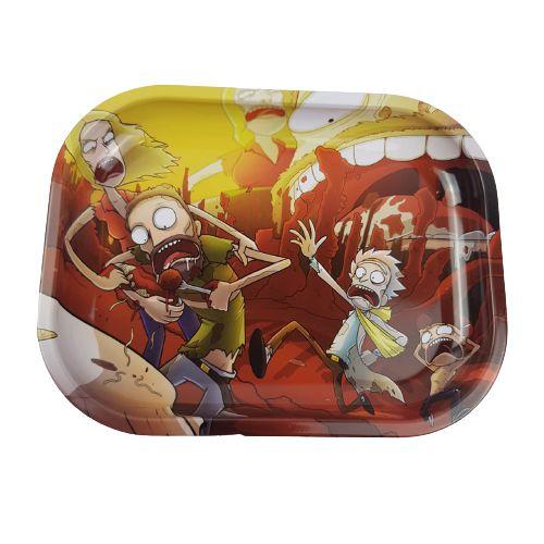 Bandeja Metalica Rick and Morty - Vermelha e Amarela