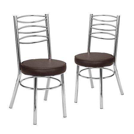 Kit 2 Cadeiras Cromadas Debrum Oxford Tre Paroni