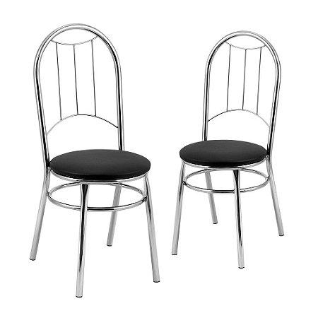 Kit 2 Cadeiras Cromadas Boston Tre Paroni