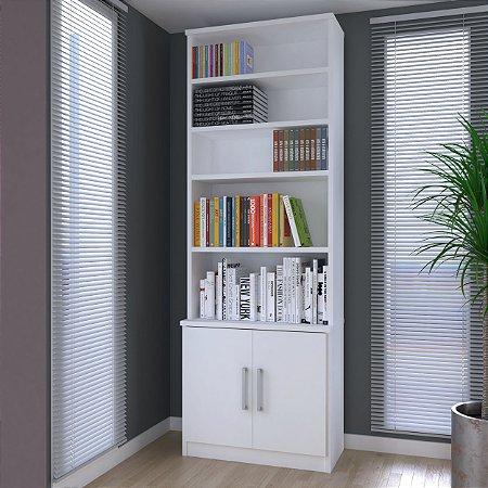 Estante de livros 2 Portas Branco Foscarini