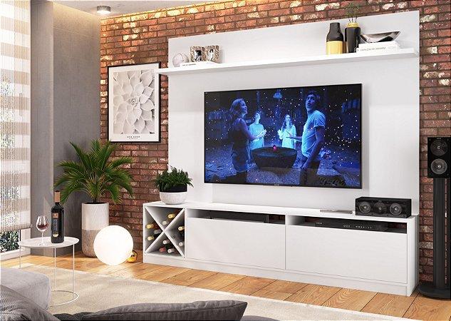Home Estante para TV até 60 polegadas Branco - Quiditá