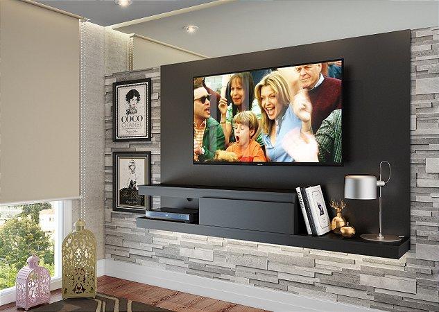 Painel para TV até 50 polegadas c/ 1 gaveta Preto - Quiditá