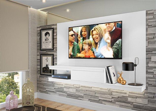 Painel para TV até 50 polegadas c/ 1 gaveta Branco - Quiditá