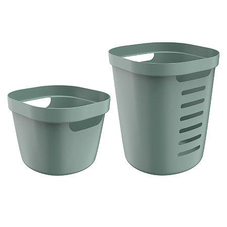 Conjunto de Cestos Organizadores Cube Flex Ou Verde Fechado