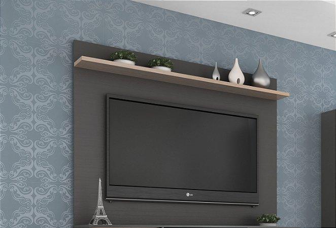 Painel para TV até 55 polegadas Benevello 2036 Grafite/Siena - Quditá