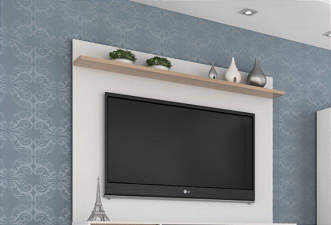 Painel para TV até 55 polegadas  Benevello 2036 Branco/Siena - Quiditá