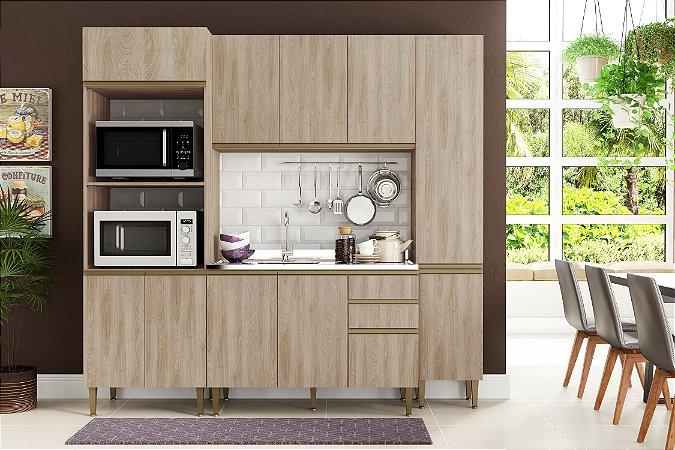 Cozinha Completa Modulada 4 Peças c/ Paneleiro Aveiro - Be