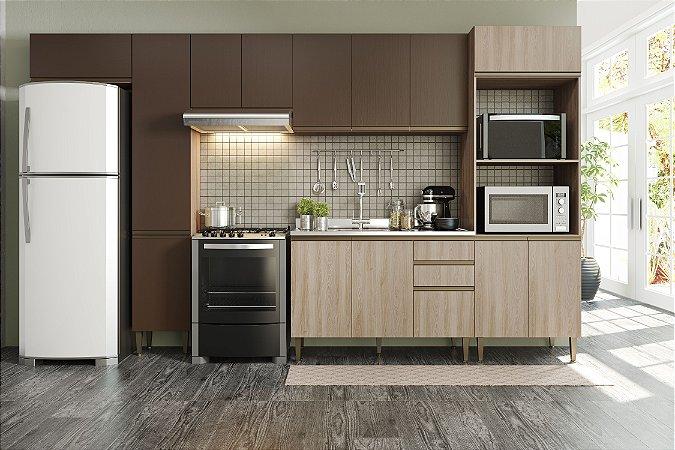 Cozinha Completa Modulada 6 Peças Aveiro/Oxid - Be