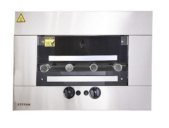 Assador a Gás de Embutir 4 Espetos Titan Gás Natural 127V