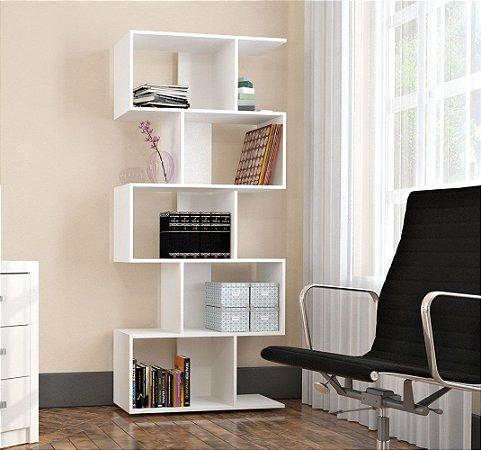 Estante Livreiro Com 5 Nichos Office Plus Appunto Branco