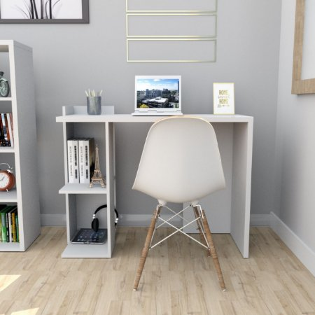 Mesa Para Escritório Sense Com 2 Nichos Appunto Branco