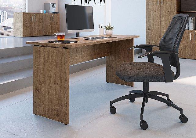 Mesa Para Escritório 90cm Ative Vermont Home Office Artesano