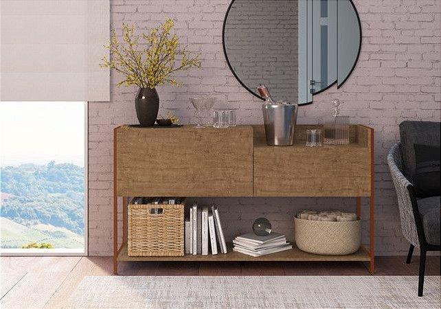 Balcão Buffet 1 Porta 1 gaveta Vermont/Est  Cobre Industrial Artesano