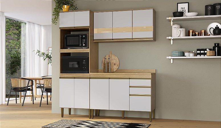Cozinha Completa Casablanca 4 peças A3491 Mel/Off White Casa Mia