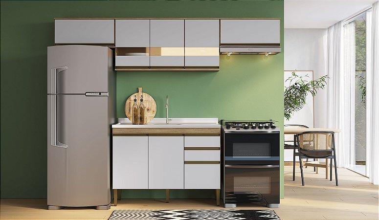 Cozinha Completa Casablanca 4 peças A3495 Mel/Off White Casa Mia