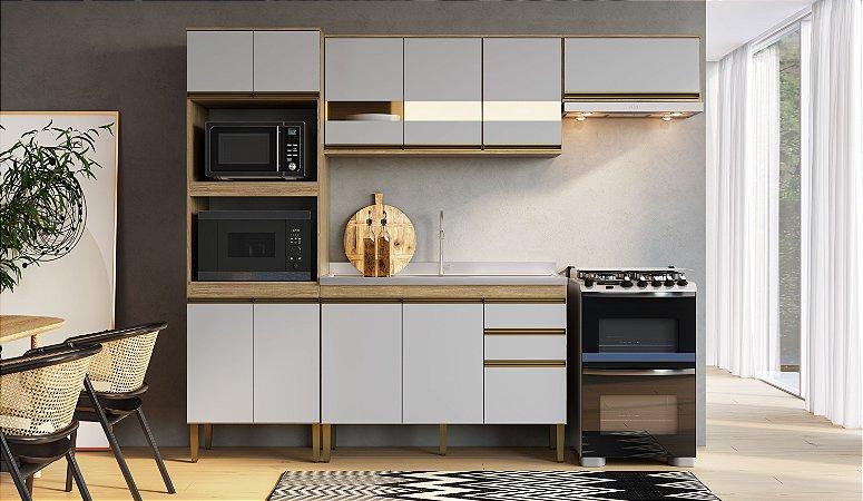 Cozinha Completa Casablanca 4 peças A3496 Mel/Off White Casa Mia