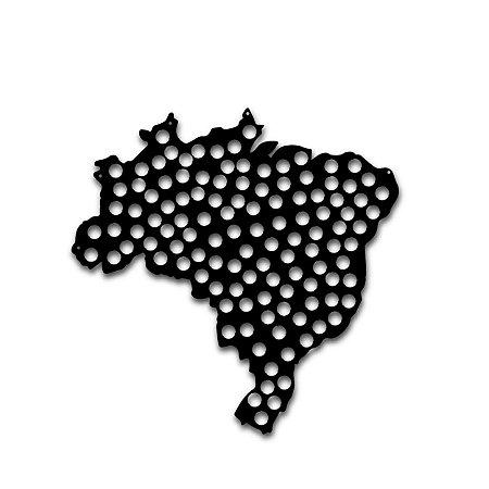 Quadro do Brasil Porta Tampinha