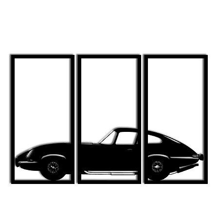 Quadro Jaguar E-type Segmentado (Linha Carros)