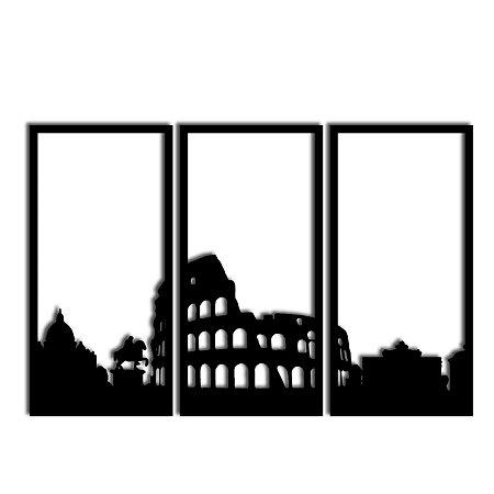 Quadro Decorativo Roma Segmentado  (Linha City)