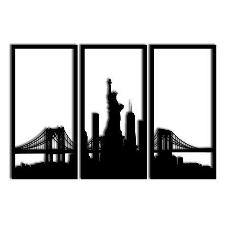 Quadro Nova York Segmentado (Linha City)