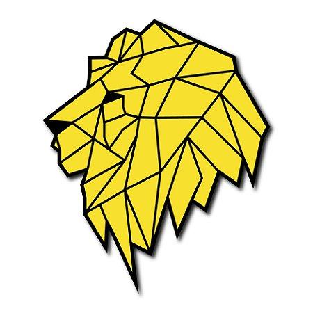 Quadro Decorativo Leão Geométrico Color