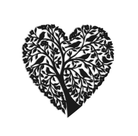 Quadro Árvore da Vida Coração