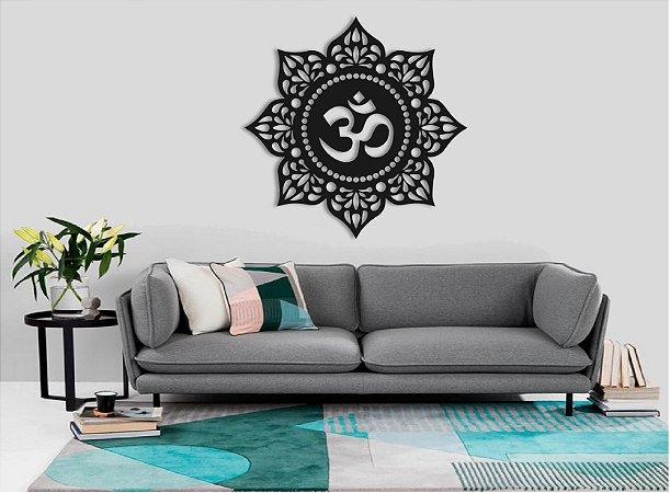 Quadro Símbolo Om Mandala Omshantiom Proteção 60cm