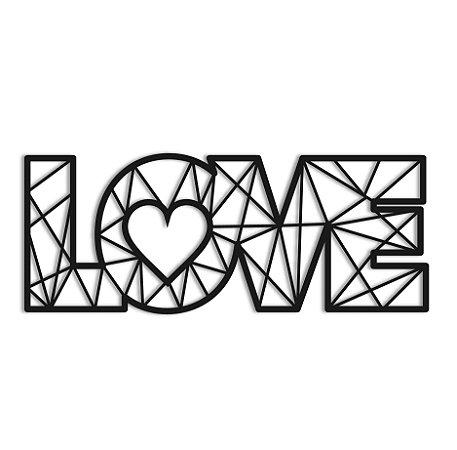 Quadro Love Geometrico