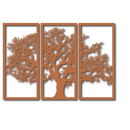 Quadro Árvore da Vida Segmentado - G - Marrom