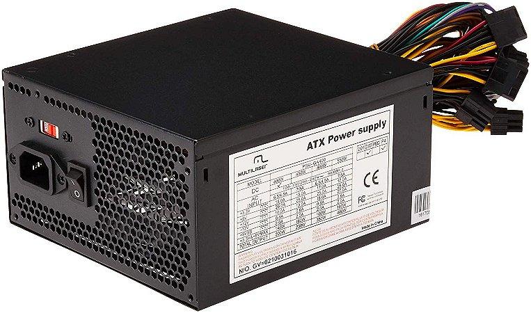 FONTE ATX 400W REAL, MULTILASER GA400