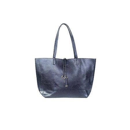 Bolsa Sacola Feminina Shopper Azul Marinho