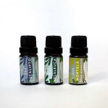 Kit óleos essencias respiração
