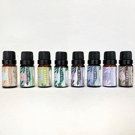 Kit com 8 óleos essencias