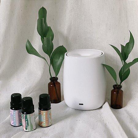 Kit aromaterapia essencial - difusor ultrassônico