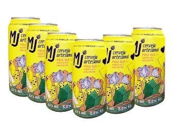 MJ Pale Ale Maracujá e Manjericão Lata 473 ml - 6 Pack