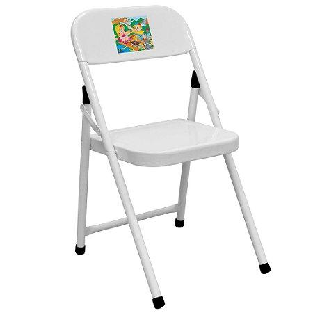 Cadeira De Ferro Infantil Dobrável Sapeca